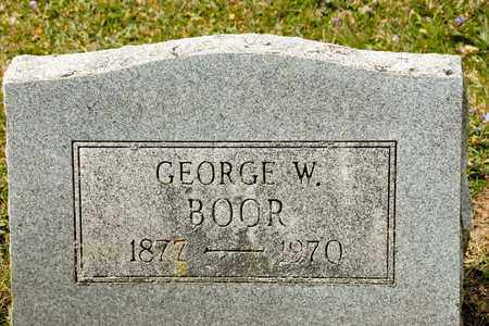 BOOR, GEORGE W - Richland County, Ohio | GEORGE W BOOR - Ohio Gravestone Photos