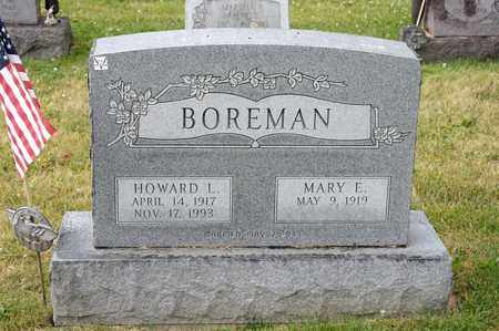 BOREMAN, HOWARD L - Richland County, Ohio | HOWARD L BOREMAN - Ohio Gravestone Photos