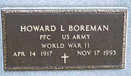 BOREMAN, HOWARD L - Richland County, Ohio | HOWARD L BOREMAN - Ohio Gravestone Photos