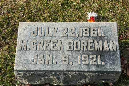 BOREMAN, M GREEN - Richland County, Ohio | M GREEN BOREMAN - Ohio Gravestone Photos
