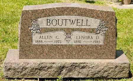BOUTWELL, ALLEN G - Richland County, Ohio | ALLEN G BOUTWELL - Ohio Gravestone Photos