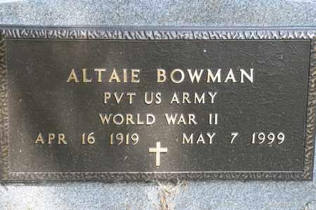 BOWMAN, ALTAIE - Richland County, Ohio | ALTAIE BOWMAN - Ohio Gravestone Photos
