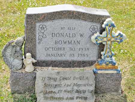 BOWMAN, DONALD W - Richland County, Ohio | DONALD W BOWMAN - Ohio Gravestone Photos