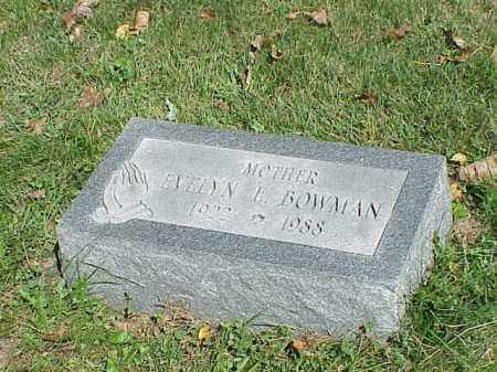 BOWMAN, EVELYN E. - Richland County, Ohio | EVELYN E. BOWMAN - Ohio Gravestone Photos