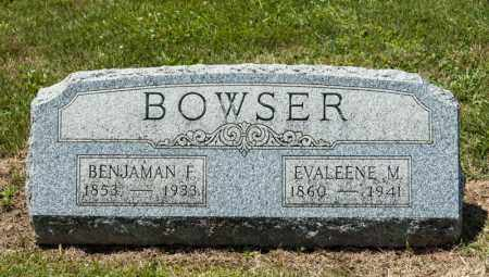 BOWSER, BENJAMAN F - Richland County, Ohio | BENJAMAN F BOWSER - Ohio Gravestone Photos