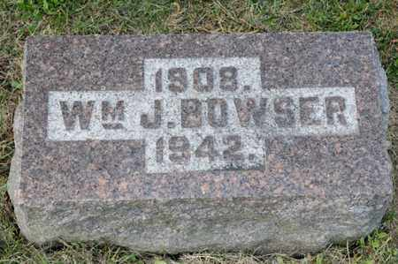 BOWSER, WILLIAM J - Richland County, Ohio | WILLIAM J BOWSER - Ohio Gravestone Photos