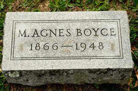 BOYCE, M AGNES - Richland County, Ohio | M AGNES BOYCE - Ohio Gravestone Photos