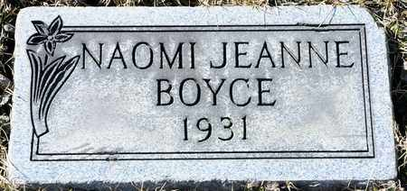 BOYCE, NAOMI JEANNE - Richland County, Ohio | NAOMI JEANNE BOYCE - Ohio Gravestone Photos
