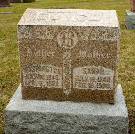 BOYCE, WASHINGTON - Richland County, Ohio | WASHINGTON BOYCE - Ohio Gravestone Photos