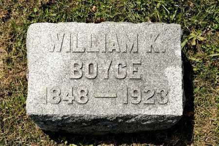 BOYCE, WILLIAM K - Richland County, Ohio | WILLIAM K BOYCE - Ohio Gravestone Photos