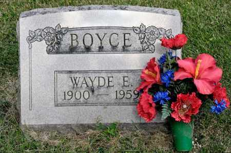 BOYCE, WAYDE E - Richland County, Ohio | WAYDE E BOYCE - Ohio Gravestone Photos
