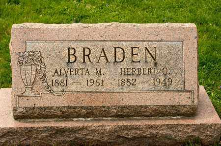 BRADEN, ALVERTA M - Richland County, Ohio | ALVERTA M BRADEN - Ohio Gravestone Photos