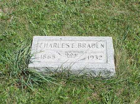 BRADEN, CHARLES E. - Richland County, Ohio | CHARLES E. BRADEN - Ohio Gravestone Photos