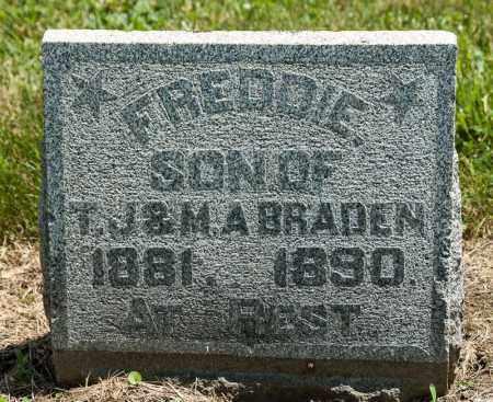 BRADEN, FREDDIE - Richland County, Ohio | FREDDIE BRADEN - Ohio Gravestone Photos