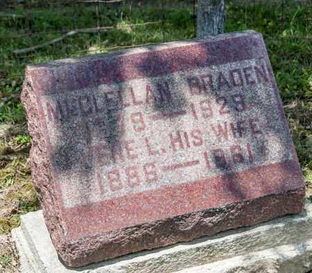 BRADEN, MCCLELLAN - Richland County, Ohio | MCCLELLAN BRADEN - Ohio Gravestone Photos