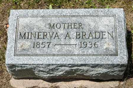 BRADEN, MINERVA A - Richland County, Ohio | MINERVA A BRADEN - Ohio Gravestone Photos