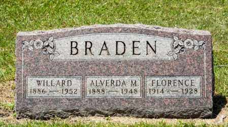 BRADEN, WILLARD - Richland County, Ohio | WILLARD BRADEN - Ohio Gravestone Photos