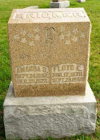 BRICKER, AMANDA B - Richland County, Ohio | AMANDA B BRICKER - Ohio Gravestone Photos