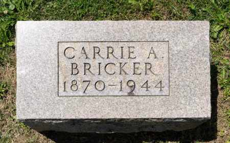 BRICKER, CARRIE A - Richland County, Ohio | CARRIE A BRICKER - Ohio Gravestone Photos