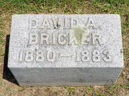 BRICKER, DAVID A - Richland County, Ohio | DAVID A BRICKER - Ohio Gravestone Photos