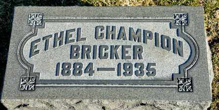 CHAMPION BRICKER, ETHEL - Richland County, Ohio | ETHEL CHAMPION BRICKER - Ohio Gravestone Photos