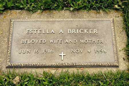 BRICKER, ESTELLA A - Richland County, Ohio | ESTELLA A BRICKER - Ohio Gravestone Photos