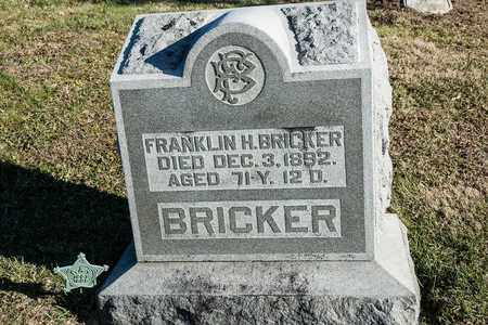 BRICKER, FRANKLLIN H - Richland County, Ohio | FRANKLLIN H BRICKER - Ohio Gravestone Photos