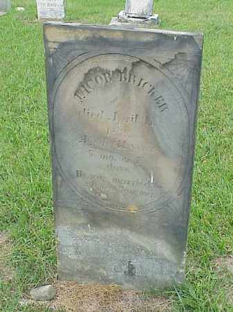 BRICKER, JACOB - Richland County, Ohio | JACOB BRICKER - Ohio Gravestone Photos