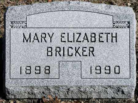 BRICKER, MARY ELIZABETH - Richland County, Ohio | MARY ELIZABETH BRICKER - Ohio Gravestone Photos