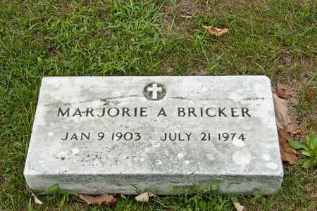 BRICKER, MARJORIE A - Richland County, Ohio | MARJORIE A BRICKER - Ohio Gravestone Photos