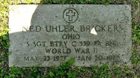 BRICKER, NED UHLER - Richland County, Ohio | NED UHLER BRICKER - Ohio Gravestone Photos