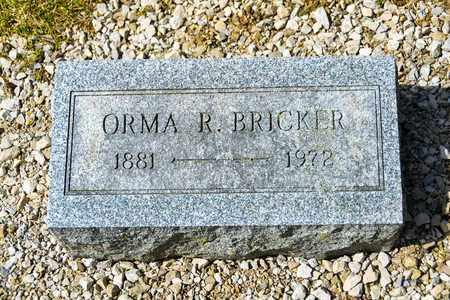 BRICKER, ORMA R - Richland County, Ohio | ORMA R BRICKER - Ohio Gravestone Photos