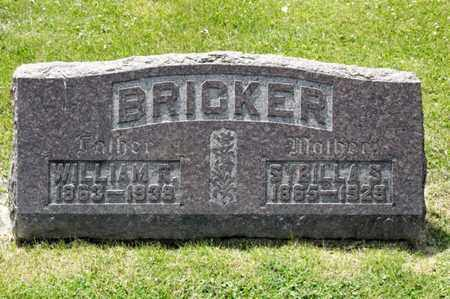 BRICKER, SYBILLA S - Richland County, Ohio | SYBILLA S BRICKER - Ohio Gravestone Photos
