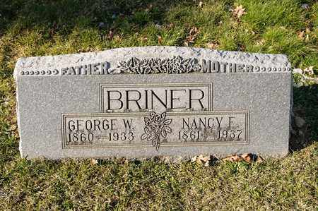 BRINER, NANCY E - Richland County, Ohio | NANCY E BRINER - Ohio Gravestone Photos