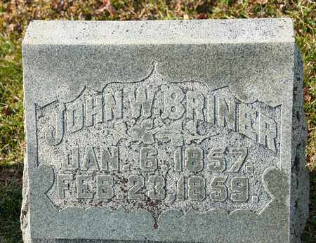 BRINER, JOHN W - Richland County, Ohio | JOHN W BRINER - Ohio Gravestone Photos