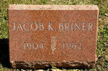 BRINER, JACOB K - Richland County, Ohio | JACOB K BRINER - Ohio Gravestone Photos