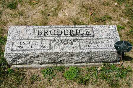 BRODERICK, WILLIAM R - Richland County, Ohio | WILLIAM R BRODERICK - Ohio Gravestone Photos