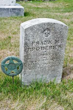 BRODERICK, FRANK M - Richland County, Ohio | FRANK M BRODERICK - Ohio Gravestone Photos