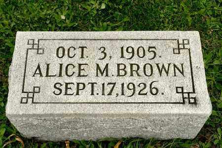 BROWN, ALICE M - Richland County, Ohio | ALICE M BROWN - Ohio Gravestone Photos