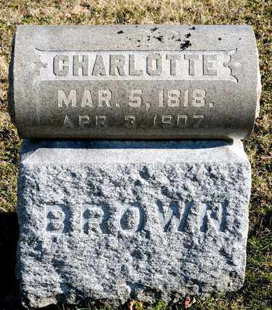 BROWN, CHARLOTTE - Richland County, Ohio | CHARLOTTE BROWN - Ohio Gravestone Photos