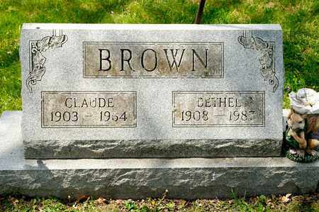 BROWN, CLAUDE - Richland County, Ohio | CLAUDE BROWN - Ohio Gravestone Photos