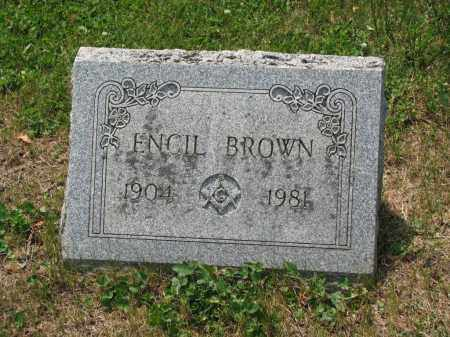 BROWN, ENCIL - Richland County, Ohio | ENCIL BROWN - Ohio Gravestone Photos