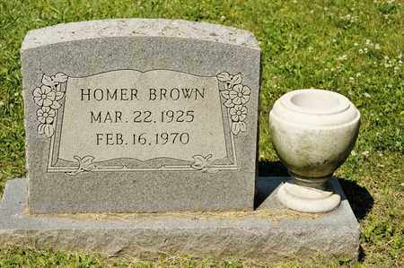 BROWN, HOMER - Richland County, Ohio | HOMER BROWN - Ohio Gravestone Photos