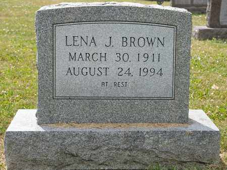 BROWN, LENA J - Richland County, Ohio | LENA J BROWN - Ohio Gravestone Photos
