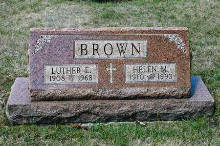 BROWN, LUTHER E - Richland County, Ohio | LUTHER E BROWN - Ohio Gravestone Photos