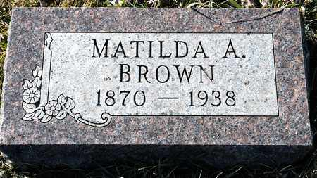 BROWN, MATILDA A - Richland County, Ohio | MATILDA A BROWN - Ohio Gravestone Photos