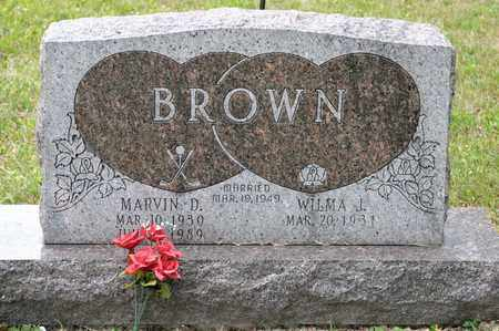 BROWN, MARVIN D - Richland County, Ohio | MARVIN D BROWN - Ohio Gravestone Photos