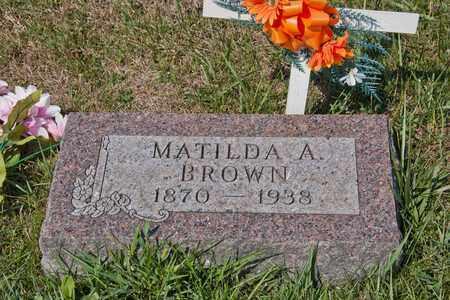 BROWN, MATILDA A - Richland County, Ohio | MATILDA A BROWN - Ohio Gravestone Photos