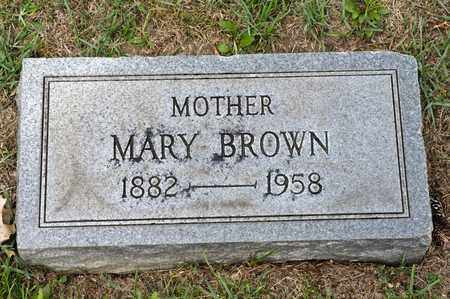 BROWN, MARY - Richland County, Ohio | MARY BROWN - Ohio Gravestone Photos