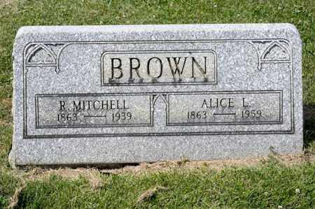 BROWN, ALICE L - Richland County, Ohio | ALICE L BROWN - Ohio Gravestone Photos